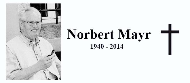 Norbert Mayr verstorben